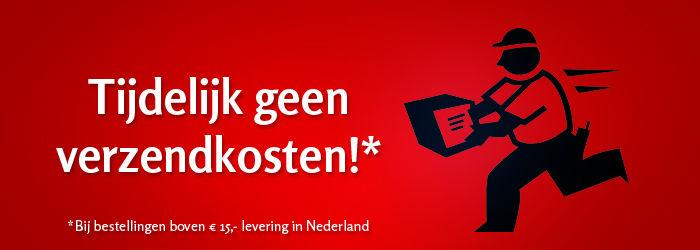Tijdelijk geen verzendkosten boven de 15 euro in Nederland